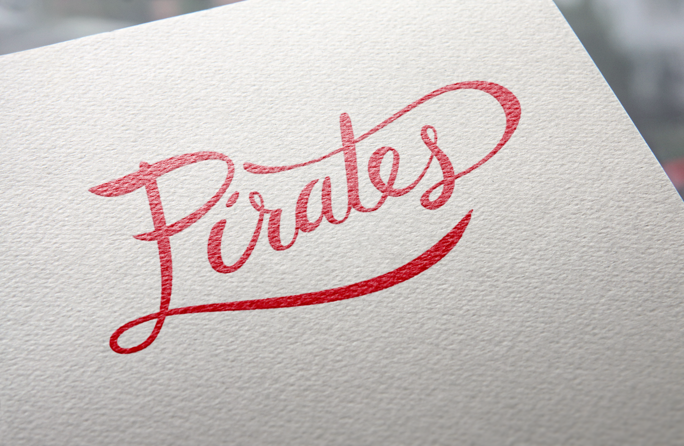 Pirates Hand Lettering
